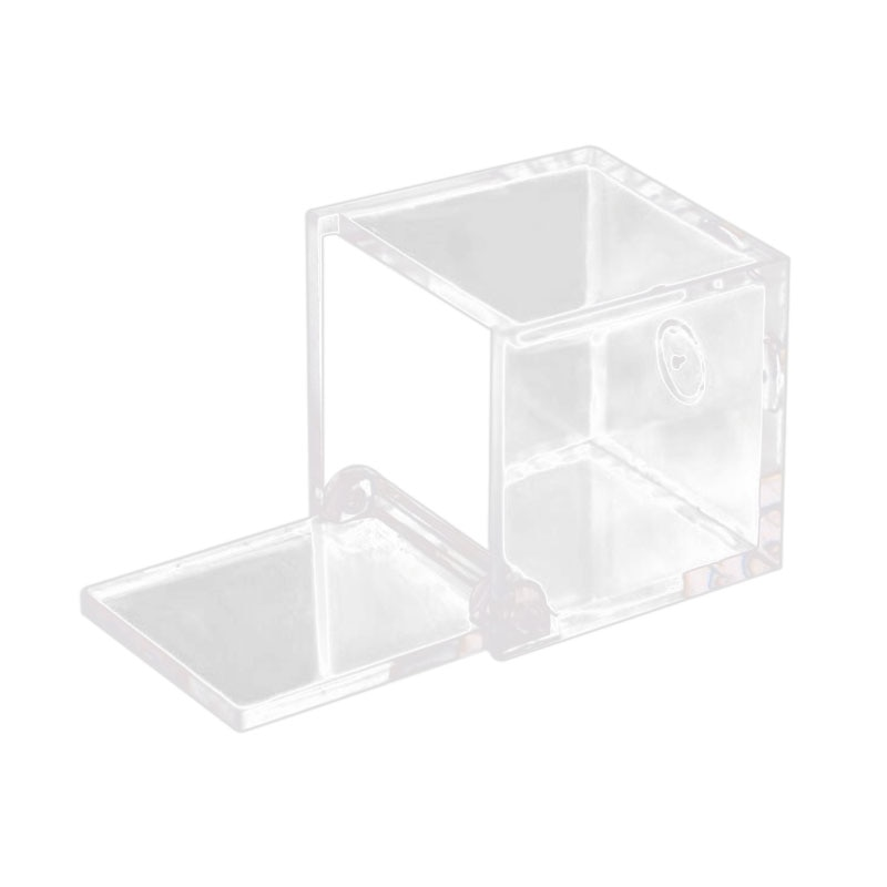 12 Uds. 6x6x6 cm caja cuadrada para dulces de boda caja de plástico transparente para regalo cajas de Favor transparentes para Recuerdo/caja de exhibición cosmética con Li