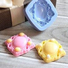 Moule à broche en Silicone 3D miroir   Vintage, moule à gâteau Sugarcraft Fondant, gâteau Cookie chocolat, outils de décoration pour mariage, nouveau