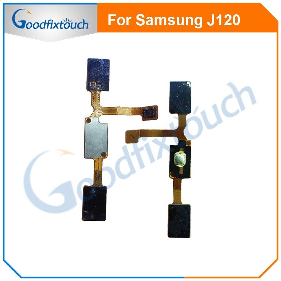 Para Samsung J120 casa botón huellas dactilares Sensor Flex Cable Touch ID menú volver clave Flex cinta reemplazo partes