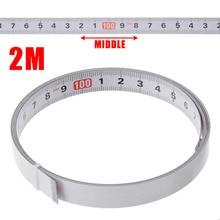 1/2/3/5M auto-adhésif scie à onglets piste ruban à mesurer support métrique en acier règle ruban mesures