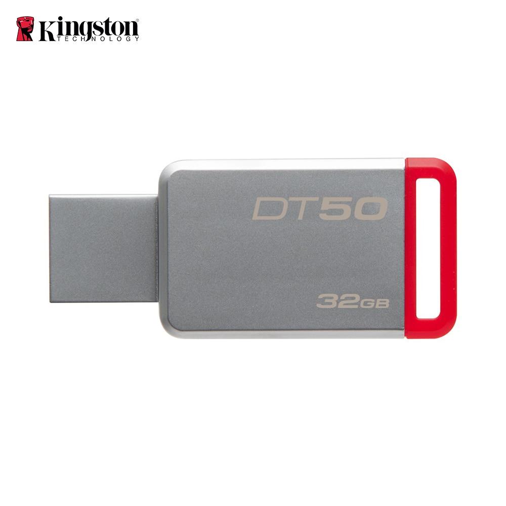 Kingston DT50 32GB USB Flash Drive USB 3.0 Flash Drive Stick Metal Pen Drive