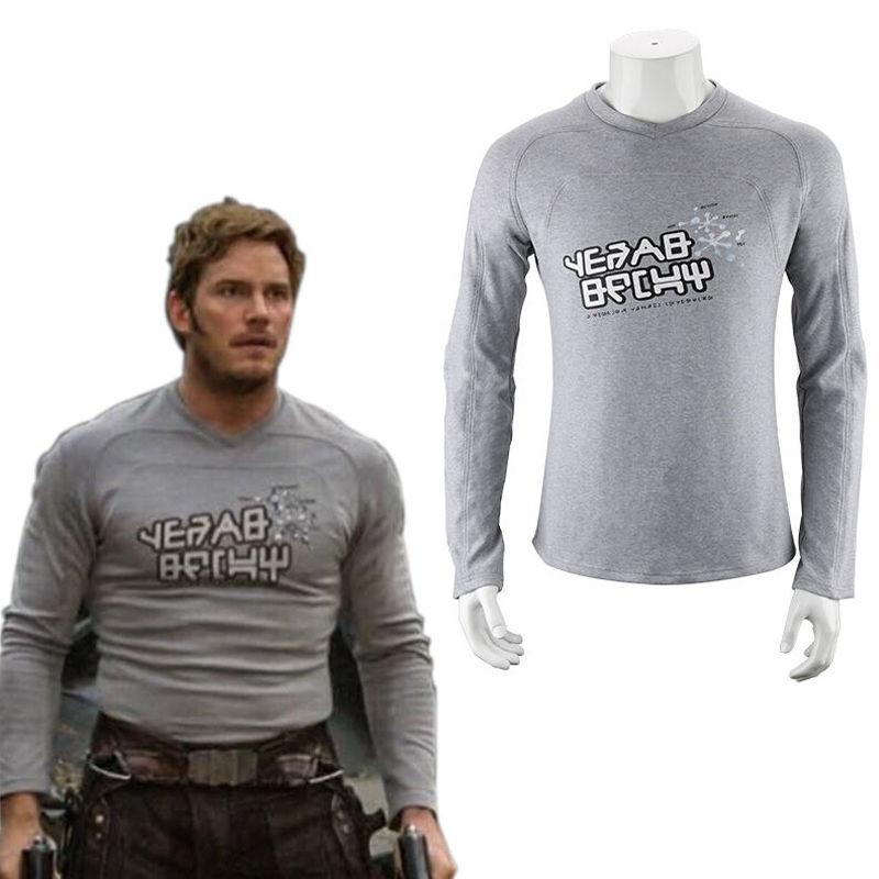 אופנה Mens ארוך שרוול חולצות 2019 חדש שומרי גלקסי 2 Starlord חולצה פיטר ג ייסון נוצת קוספליי תלבושות