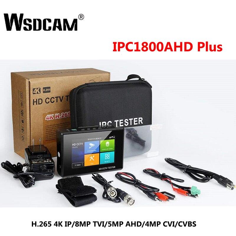 Wsdcam новейший 4-дюймовый наручный CCTV HD камера тестер H.265 4K IP 8MP TVI 4MP CVI 5MP AHD аналоговый 5-в-1 CCTV тестер монитор с WIFI