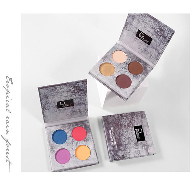 4 Colors Matte Eyeshadow Palette And Shining High Pigment Eye Shadow Waterproof Pallette Sweatproof Cosmetic Eyes Eye Shadow Aliexpress
