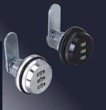 Zinc Alloy Code Combination Cam Lock 3 Dial Keyless Post Mail Box Cabinet RV