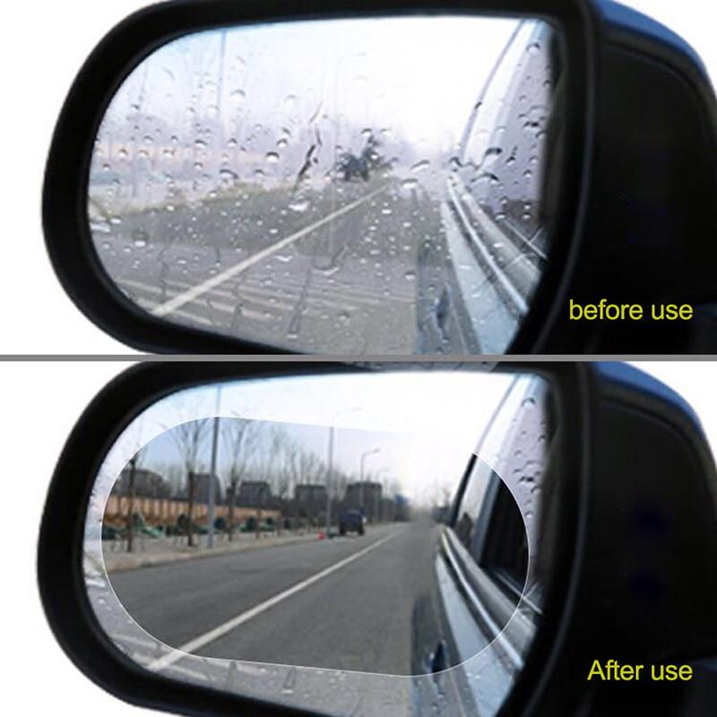 2 piezas espejo retrovisor de coche ventana película protectora antiniebla película a prueba de lluvia coche pegatinas para Auto retrovisor coche Exterior acceso