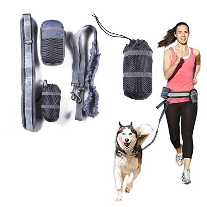 Pet Elastic Belt Running Dog Leash Sports Jogging Walking Pet Collar Rope Reflective Waist Hand Free Dogs Leash Accessories