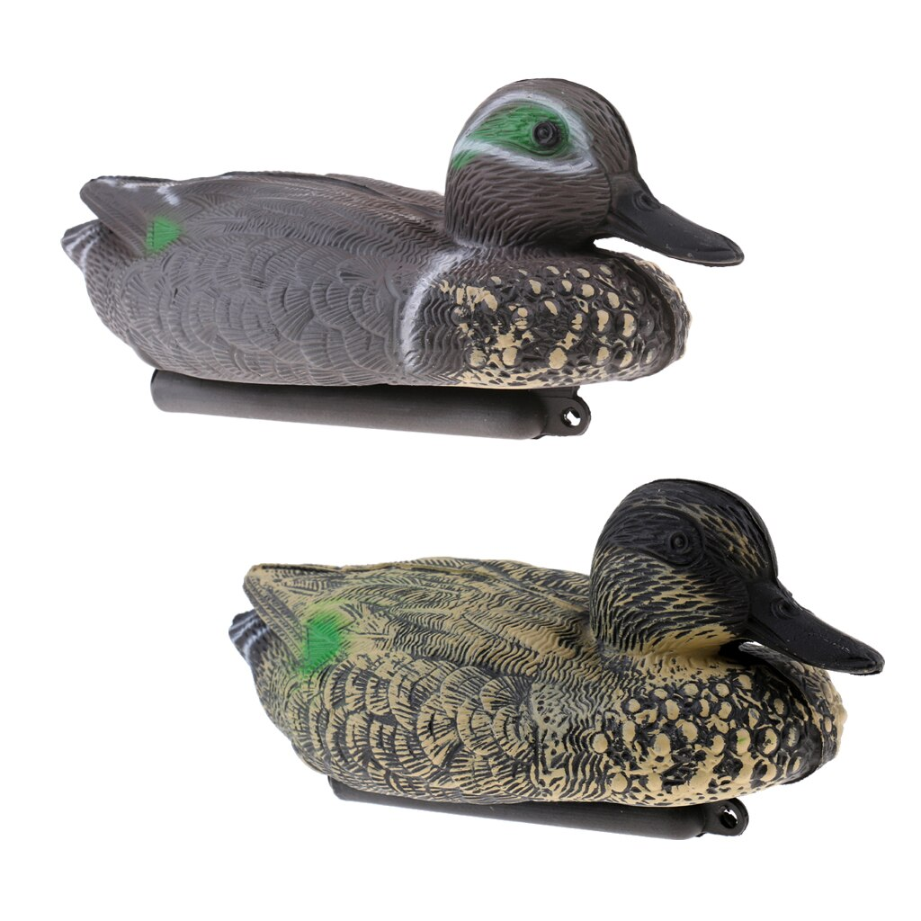 2 Pieces XPE Floating High Simulation Duck Decoy Hunting Decoy Pests Scarer Garden Decor Lawn Ornament trampas para pajaros hunt duck lovely simulation animal hunting decoy plastic duck garden ornaments sports entertainment