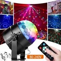 ac 80 240v ir control colorful beam holiday light music control family party effect ktv dj disco light christmas light kids gift