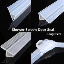 2M 6/8mm Bath Shower Screen Door Sealing Strip for Glass Thickness Seal 6.5ft Door Window Glass Fixture Accessories