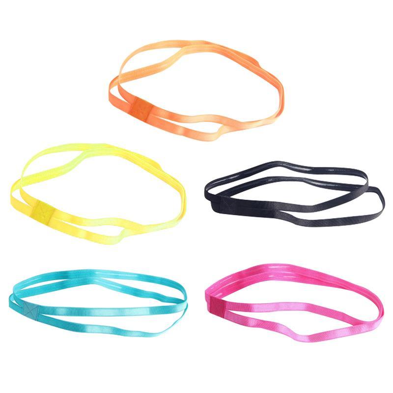 5 видов цветов противоскользящие резиновые ремешки на ремне, эластичные ремешки для занятий фитнесом на открытом воздухе, Пилатес, спортивные тренировки, повязка на голову для бега, фитнеса