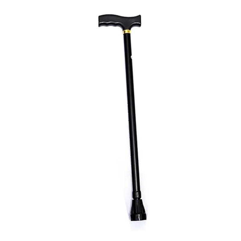 Aluminium Legierung Ältere Krücke Nicht-slip Ausziehbares Einzigen Walking Stick Bergsteigen Cane Höhe Einstellbar Ultra Licht Rohr