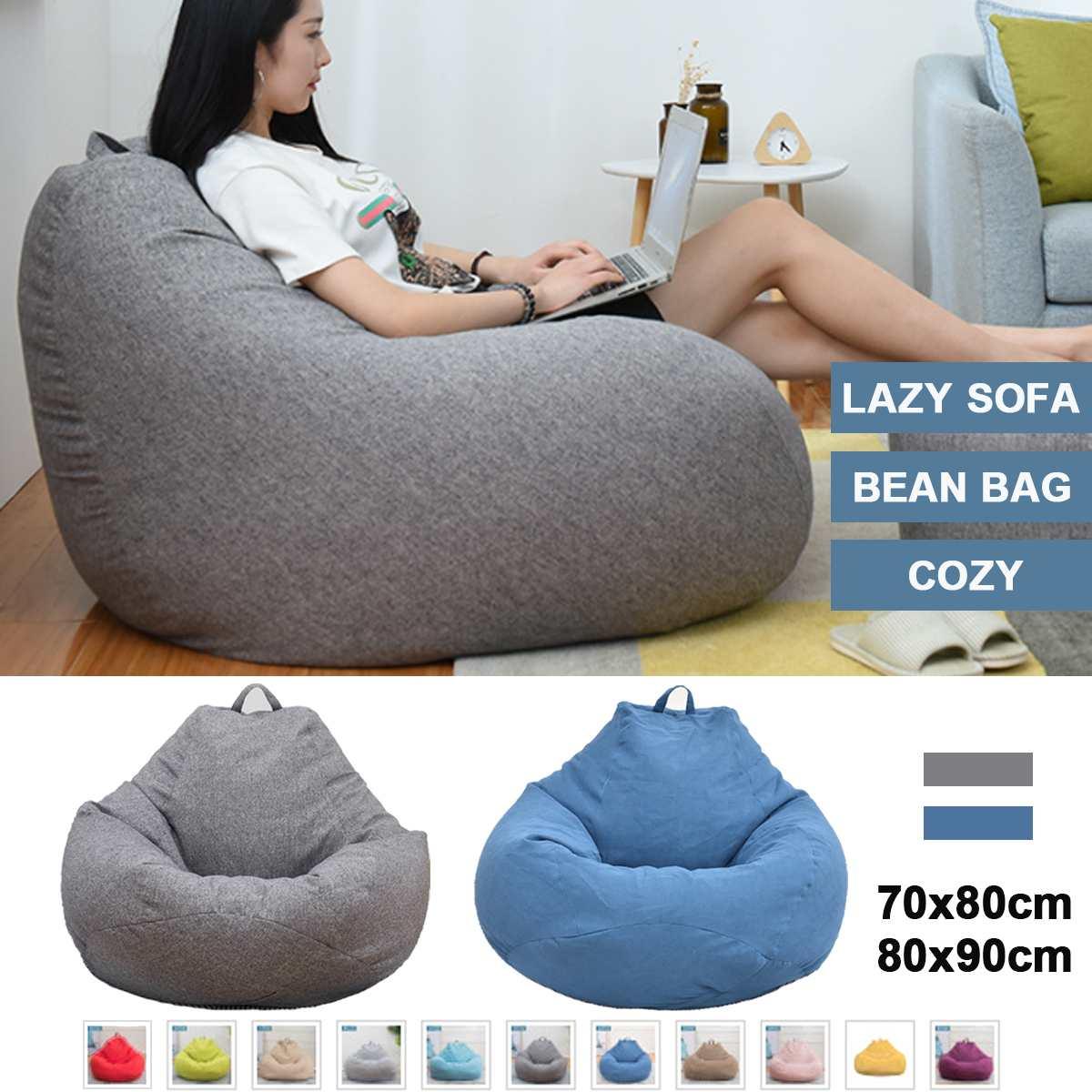Relleno Animal para muebles, bolsa otomana para asiento, sin relleno, bolsa de Beanbag, sofás, tumbona, sofá, funda de algodón para silla, solo cubierta