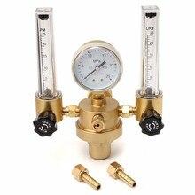 Argon CO2 jauge régulateur de pression Mig Tig débitmètre vanne de contrôle gaz de soudage Double Tube bulle compteur Aquarium débitmètre