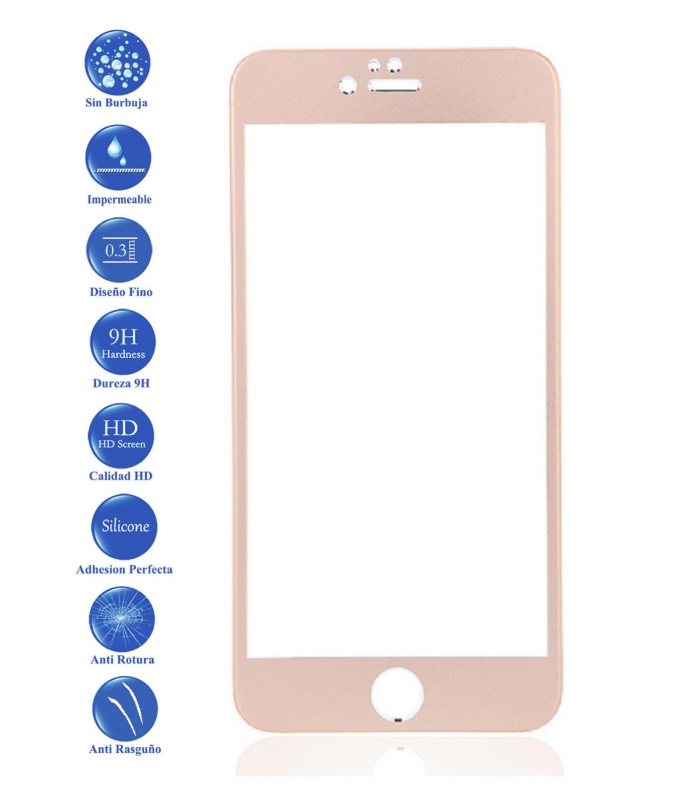 Protector Pantalla Cristal Templado para Apple IPhone 6S Plus 5.5 Color Dorado