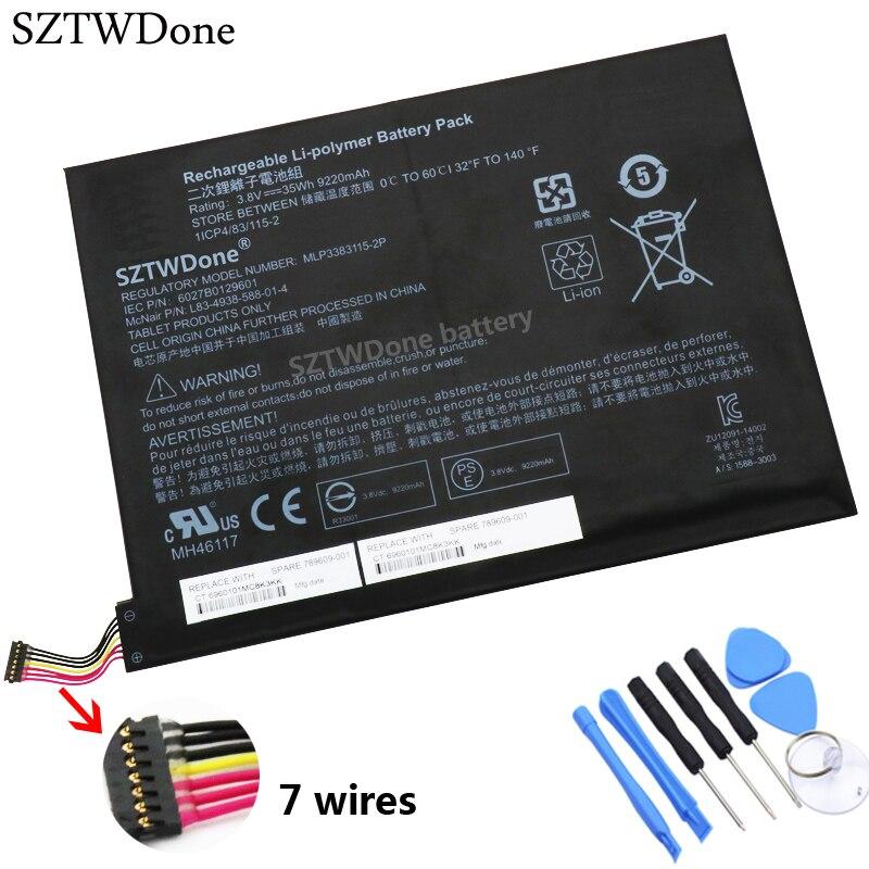 SZTWDone اللوحي بطارية كمبيوتر محمول ل HP جناح x2 10-j013tu 10-j014tu 10-j024tu 10-j025tu MLP3383115-2P MH46117 789609-001