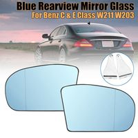 New Left/Right Blue Anti Glare Rearview Mirror Glass for Benz C & E Class W211 W203 Sedan E320 E350 E500 C230 C240 C280 C320