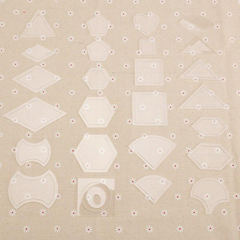 54 pçs artesanal artesanato costura retalhos quilter kit modelos transparentes reutilizável plástico diy ferramenta ferramentas de costura acessório