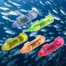 Подводная мини-лампа для привлечения рыбы, светодиодный мигающий рыболовный светильник, приманка синего, зеленого, желтого, оранжевого, кра...