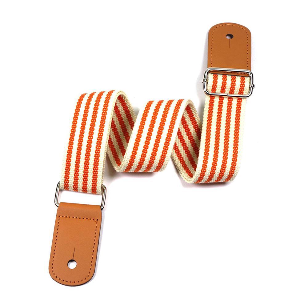 Ukulele ajustável cinta laranja listras hawaii guitarra alça de ombro cinto para concerto soprano tenor ukulele acessórios