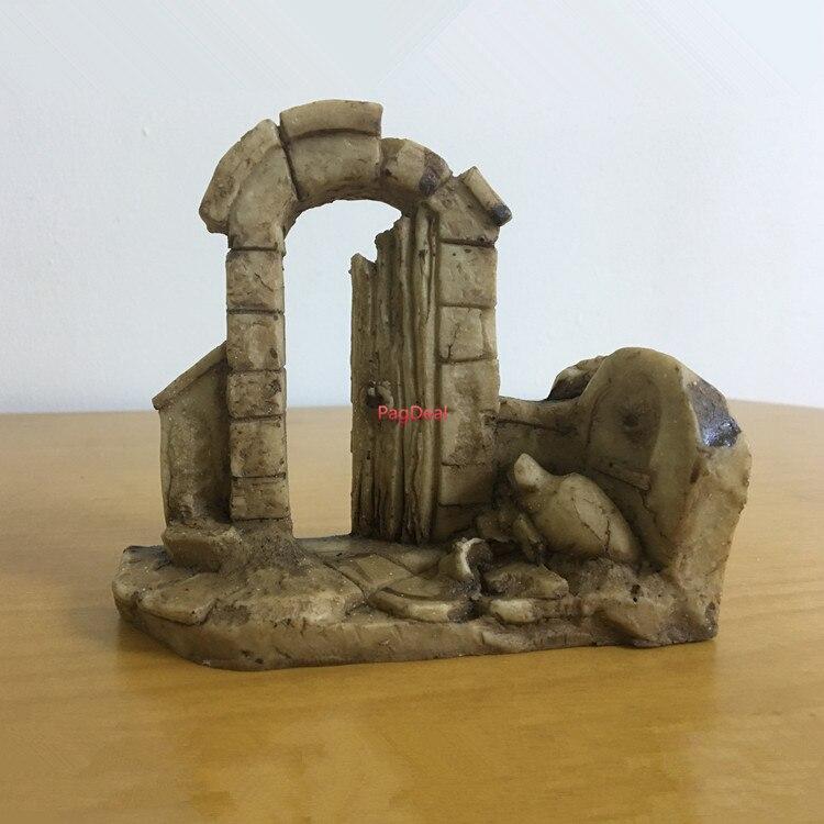 Tanque de peces, columna de decoración para acuario rome ruin, arco de entrada, L13 cm, H12 cm, W4cm, Envío Gratis