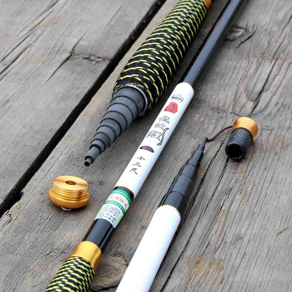 JOSBY Stream Fishing Rods 2.7~7.2M  Carbon Fiber Telescopic Fishing Rod Hand Pole Feeder for Carp Fishing Tenkara,olta,1pclot