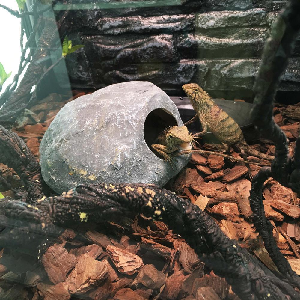 Para caja de reptiles serpiente, lagarto araña escorpión cueva nido acuario decorativo nido de hamsters