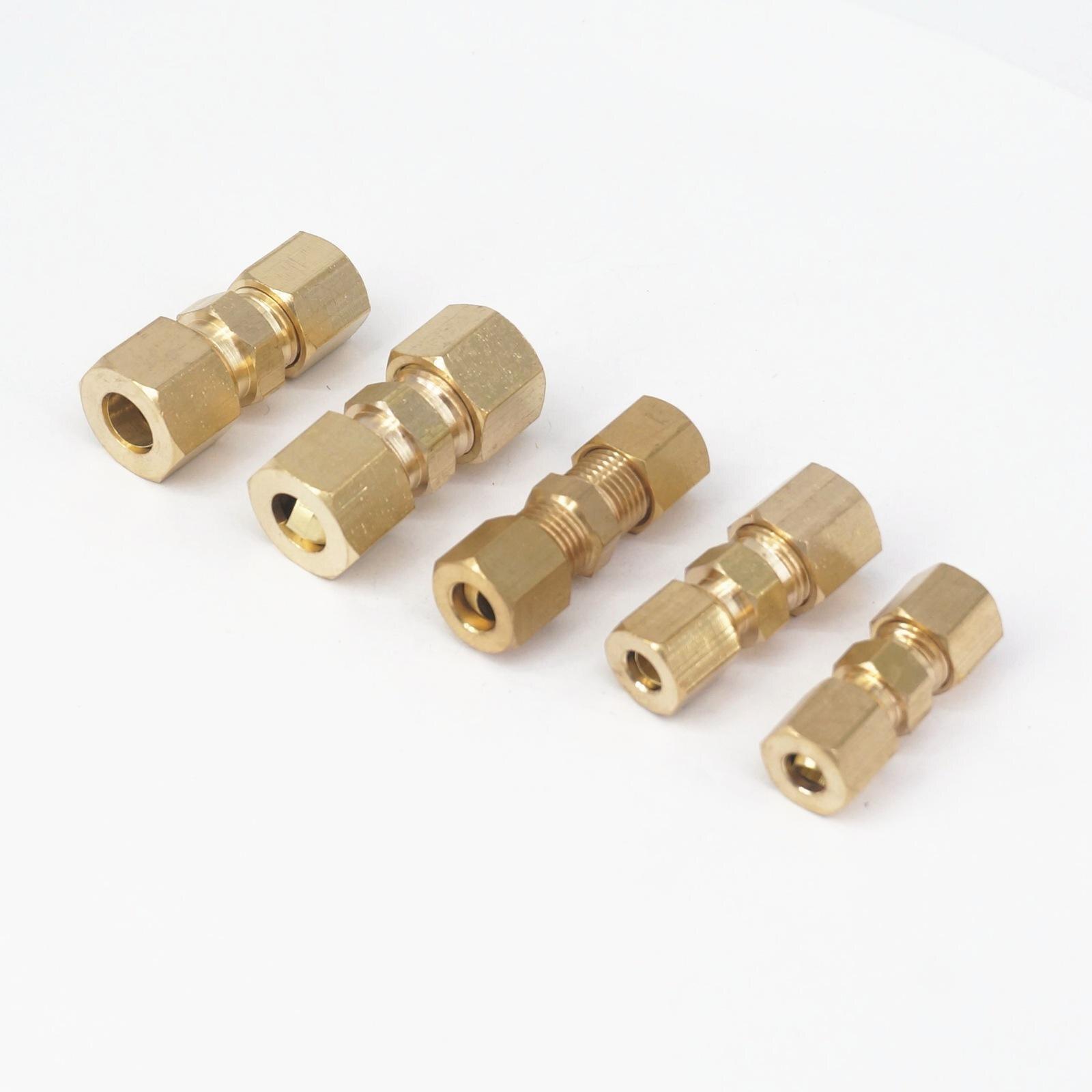 "Ajuste 3/16 ""1/4"" 5/16 ""tubo OD reductor recto Unión de compresión accesorios de tubería de latón"