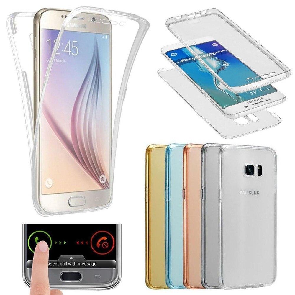 Двойной силиконовый чехол для samsung Galaxy S6 S7 край S8 S9 плюс A3 A5 A6 A7 A8 J3 J4 J5 J6 J7 J8 2018 2017 2016 Полное заднее покрытие