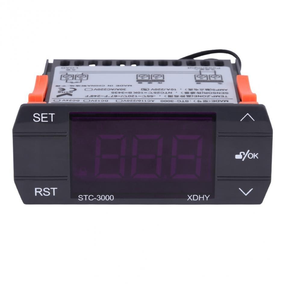 Controlador de temperatura Digital táctil AC 30A 110 V-220 V termostato con Sensor STC-3000 caliente
