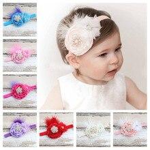 Bandeau élastique pour bébé fille   Accessoires de cheveux pour nouveau-né filles, plumes mignonnes, accessoires de cheveux