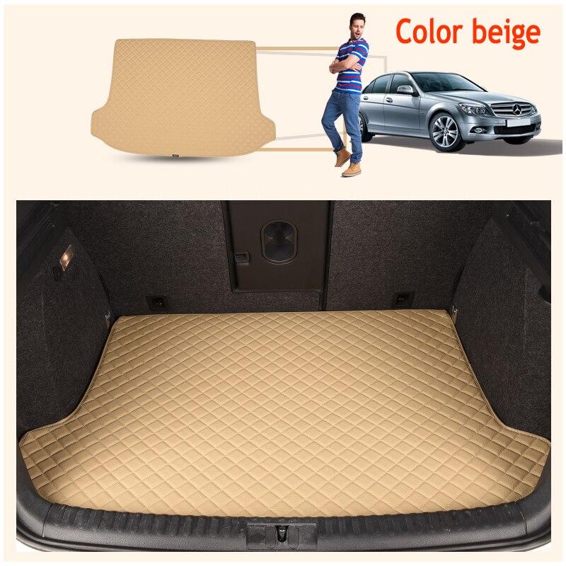 ZHAOYANHUA Custom fit High side car Trunk mats for Hyundai New beetle POLOSANTANA cross SANTANA NF    Durable Boot Carpets