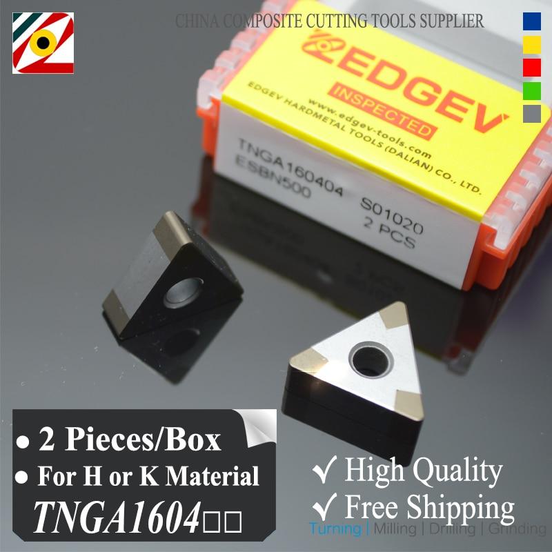 EDGEV 2 قطعة البورون نتريد CBN إدراج TNGA160404 TNMG160408 أو TNGA331 شفرة لقطع الصلب صلابة أو مصنع الحديد الزهر