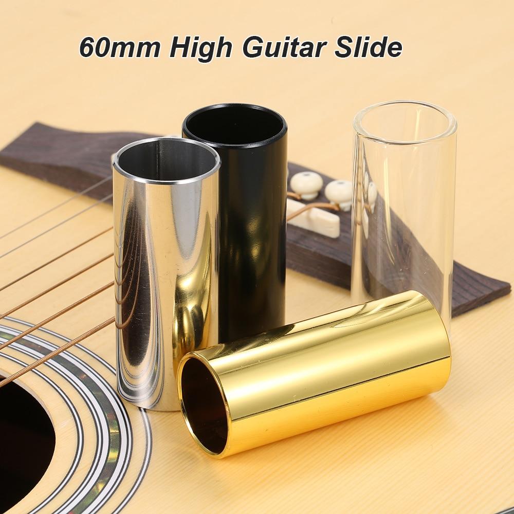 60 мм высокий балка для гитары из нержавеющей стали Металл/стекло палец горки для Гитары Струны для укулеле Инструменты Аксессуары для гитары