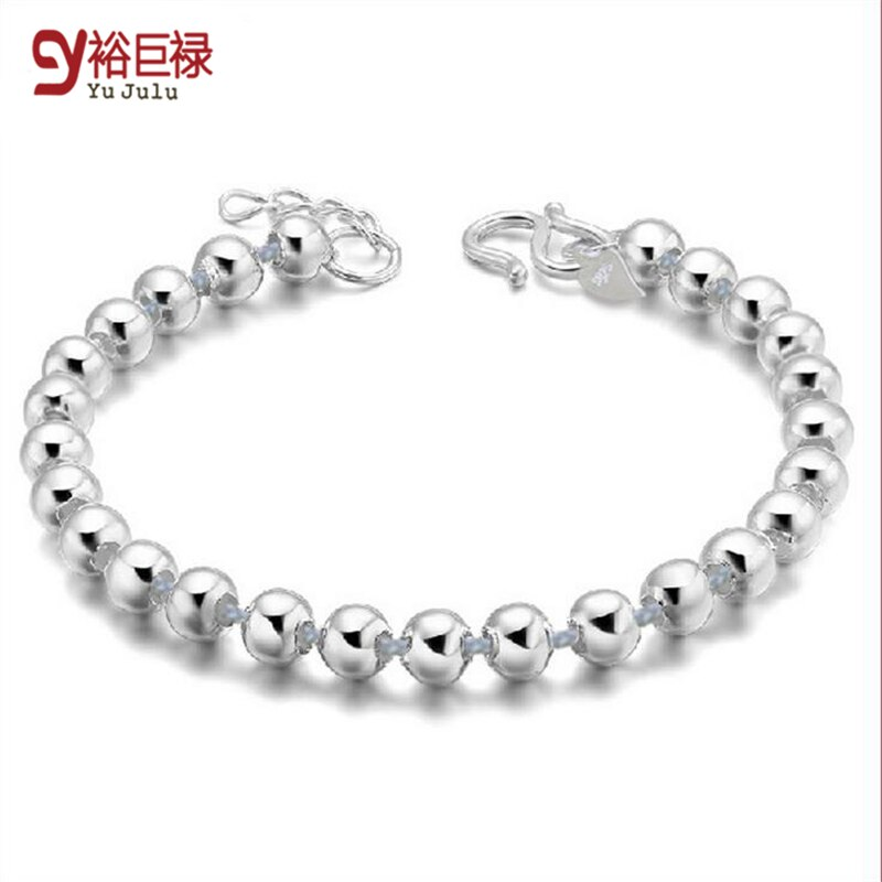 2020 Lose Money Sale Lowest Price Wholesale Bracelet Silver 4mm Budda Ball Beaded Bracelet Woman Man 925 Jewelry