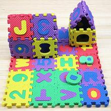 Jouets Puzzle pour bébés en mousse   36 pièces, tapis de jeu Alphabet et nombres, tapis de sol pour enfants, tapis avec lettres Animal paradis, jouets de sécurité pour enfants