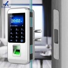 Serrure de porte électronique dempreintes digitales serrure de porte en verre fechadura serrure de porte intelligente numérique empreinte digitale serrure tactile cerradura inteligente