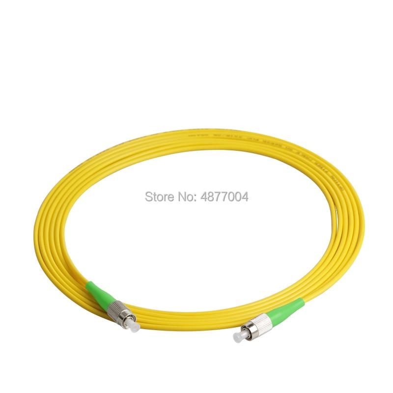 30 pièces/lot FC APC à FC APC Simplex 3.0mm PVC monomode câble de raccordement à fibers cavalier cordon de raccordement à fibers fibra optica