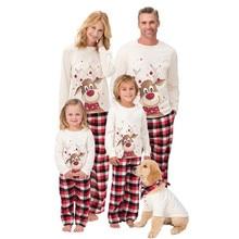 Pyjama de noël pour famille   Tenue assortie, ensemble pyjama de noël, vêtements de nuit mignons pour enfants adultes, dessin animé cerf