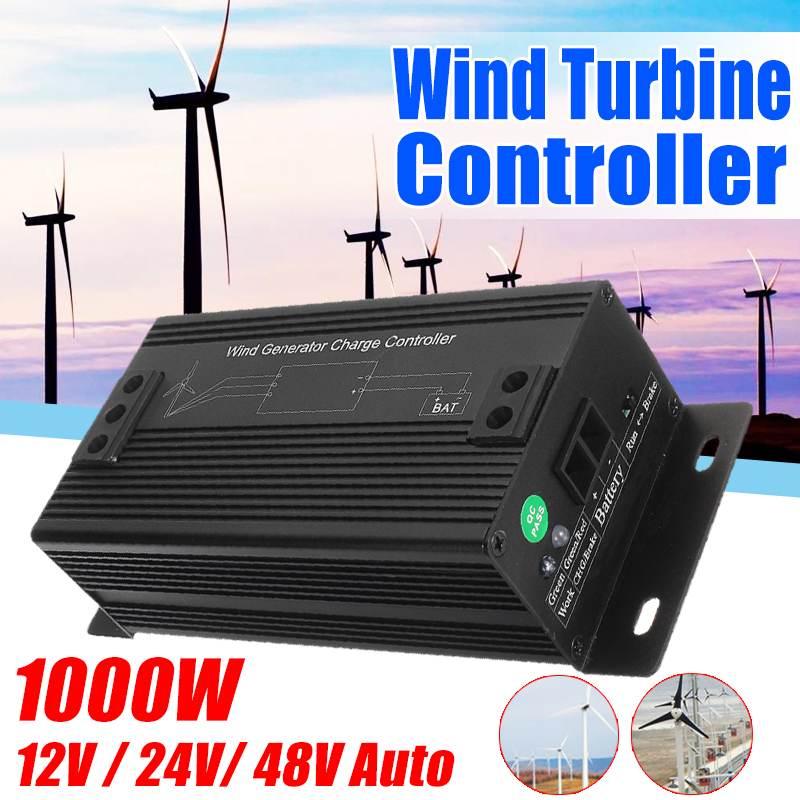 BECORNCE 1000W 48V IP50 impermeable generador de las turbinas de viento controlador regulador de carga para exterior, viento controlador de generador