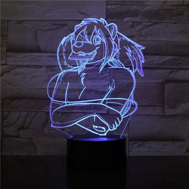 3d visión alienígena 3D luz 7 colores Estrella De León bestia rey...