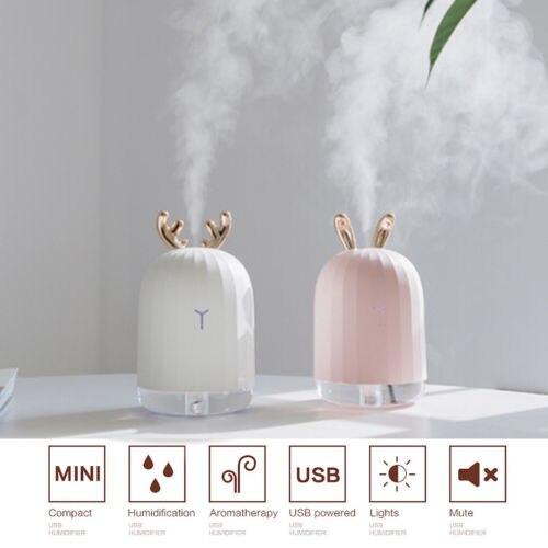 Aceites Esenciales LED difusor ultrasónico de aromaterapia humidificador de aire purificador Gadgets USB