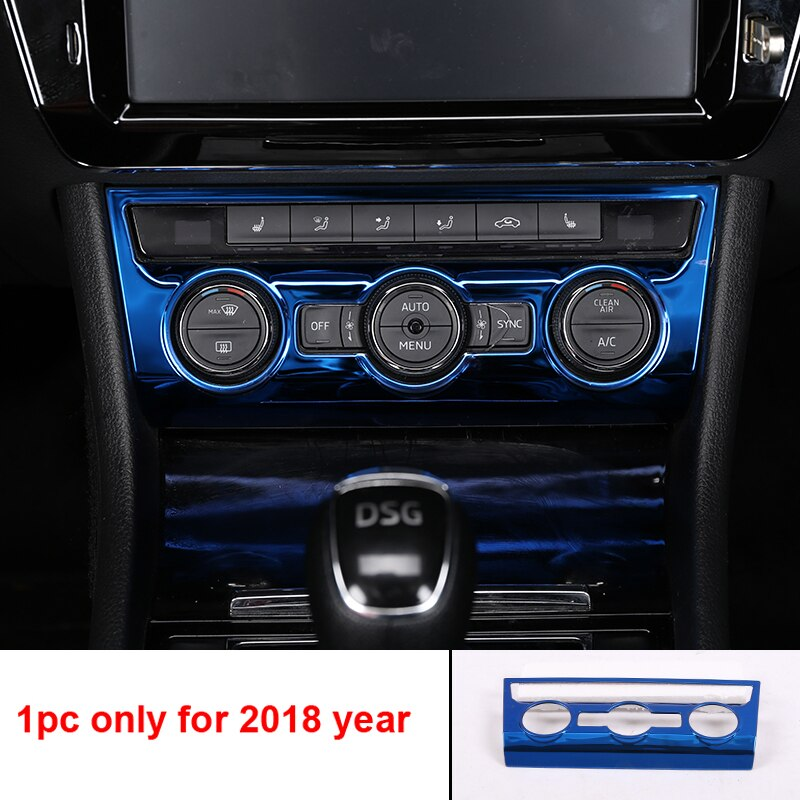 blue item for SKODA superb 2016-2018 Interior decoration Inner door Handle Gear panel Glass lifting panel Decorative enlarge