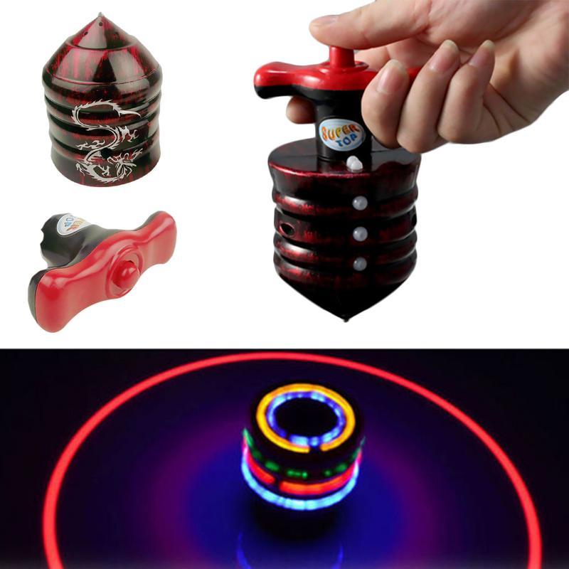 Gyroskop Musik Gyro Peg-Top Spinning Top Brinquedo Lustige Kinder Spielzeug Klassische UFO Heißer Verkauf Laser-Flash-Bunte LED licht Gyro