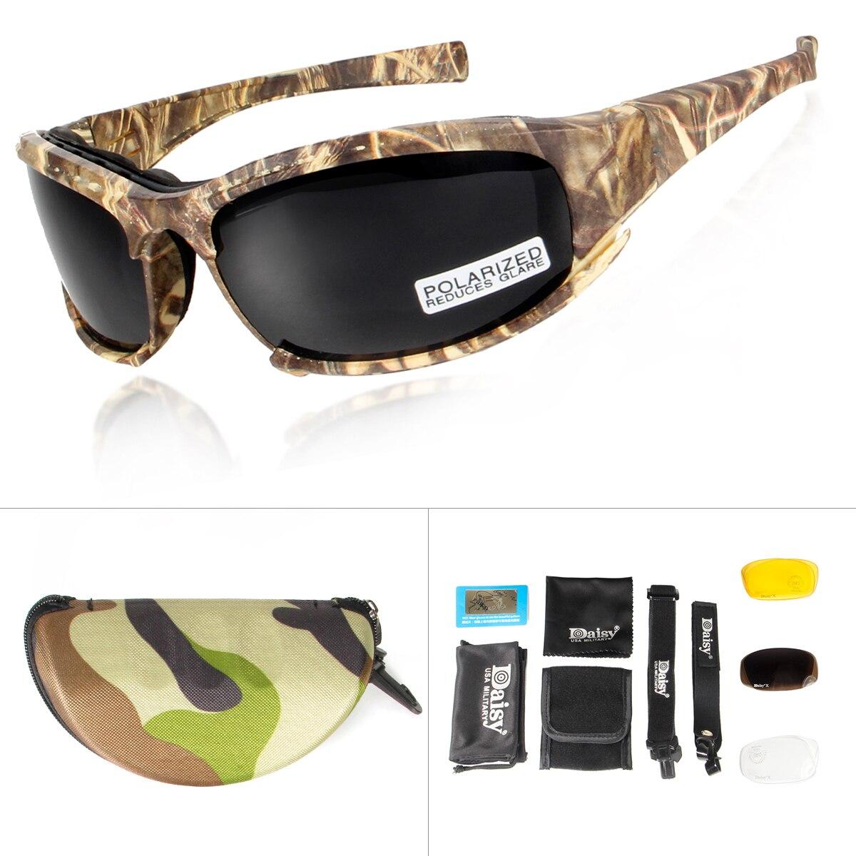 Daisy X7 gafas de camuflaje 4LS hombres gafas de sol polarizadas militares a prueba de balas Airsoft tiro motocicleta gafas de ciclismo