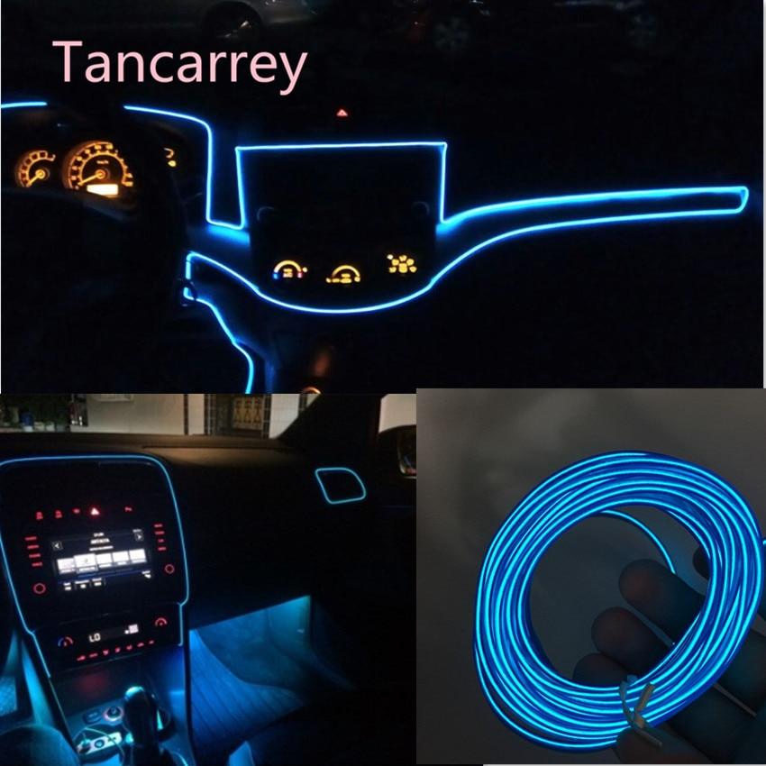 Luz interior de Ambiente de coche tira para VW Golf 5 5 5 6 6 7 Jetta MK5 MK6 MK7 CC Tiguan Passat B6 b7 Scirocco Nuevo Touareg R línea GTI P