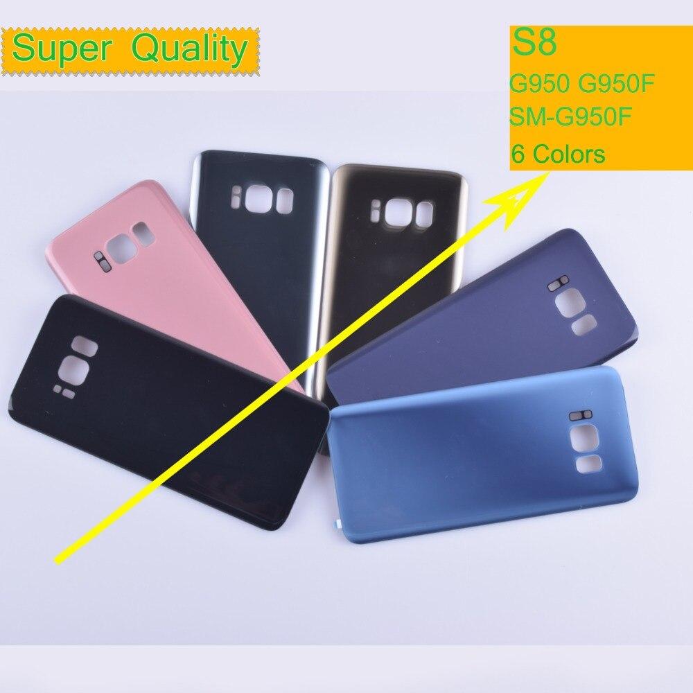 10 قطعة/الوحدة لسامسونج غالاكسي S8 G950 G950F SM-G950F غطاء البطارية الإسكان الغطاء الخلفي حالة الباب الخلفي هيكل هيكل S8 الإسكان
