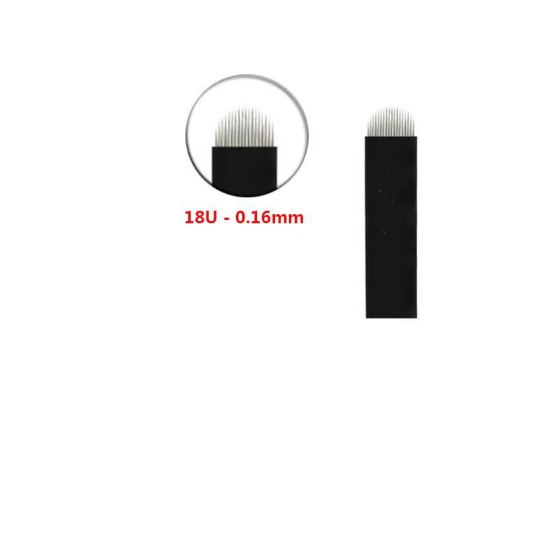 Agujas de tatuaje Nano en forma de U de 0,18mm aguja o cuchilla para microblading 12U 14U 16U 18U maquillaje permanente ceja tebori agulhas
