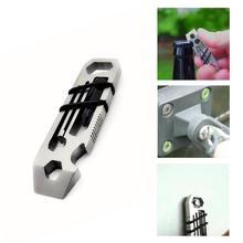 6 в 1 гаджет из нержавеющей стали для повседневного использования, походный брелок для походов, принадлежности для открывания бутылок, многофункциональные инструменты, гаечный ключ