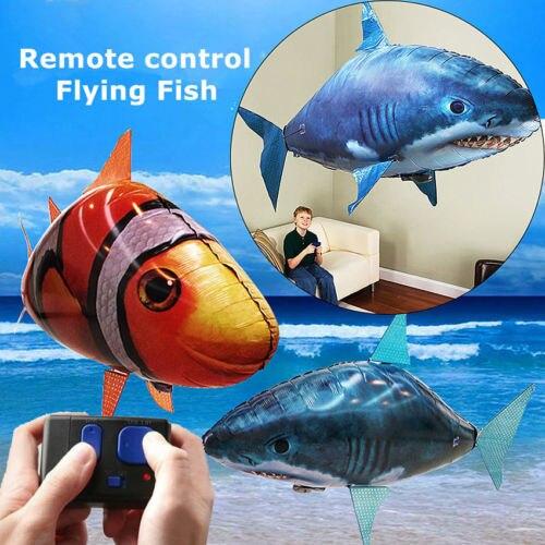 Креативный пульт дистанционного управления, летающий воздух, Акула, игрушка RC радио, надувные клоуны, воздушные шары в виде рыбы, подарок, Го...